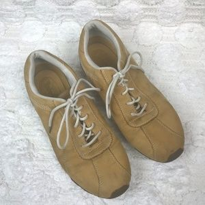 Timberland Tan Leather Lace Up Sneakers